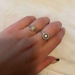Set of two pandora rings